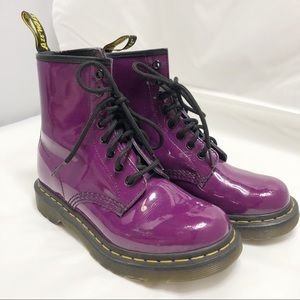 Doc Martens | Purple Patent Leather Air Wair Boots